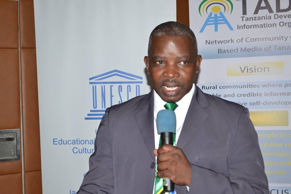 Prosper Kwigize, Chairperson for the Network of Community Media in Tanzania (TADIO)